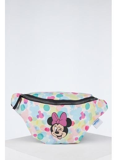 DeFacto Kız Çocuk Mickey Mouse Lisanslı Bel Çantası Camel